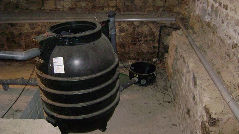 Filière ANC installée sur une propriété sans terrain